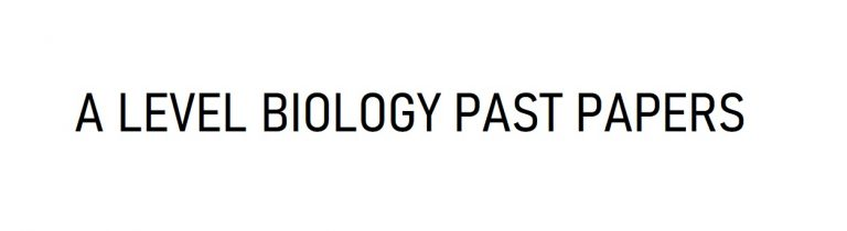 biology a level past papers