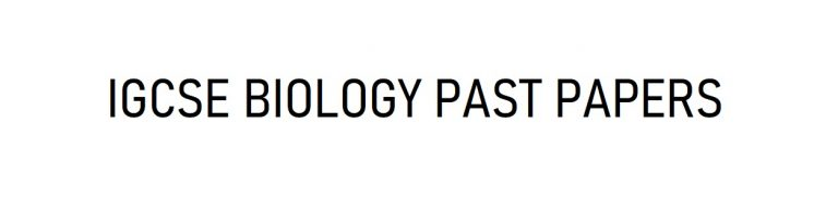 igcse biology past papers